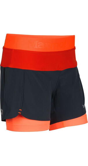 Marmot Girl's Pulse Short Dark Steel/Bright Orange